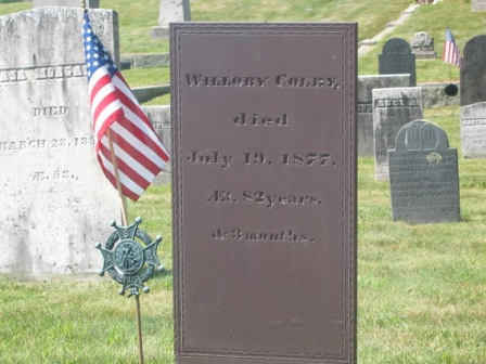 Headstone of Willoby Colby