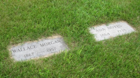 Headstone of Wallace Morgan & Ada Noyes