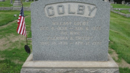 Headstone of Willaby Colby & Eleanor A. Jenette Crosby
