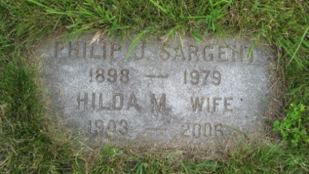 Headstone of Philip Sargent & Hilda Morgan