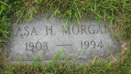 Headstone of Asa H. Morgan