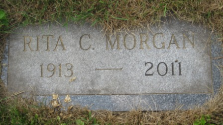 Headstone of Rita (Clough) Morgan