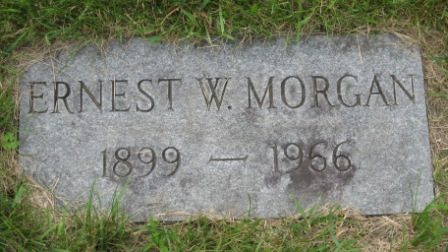 Headstone of Ernest Wallace Morgan