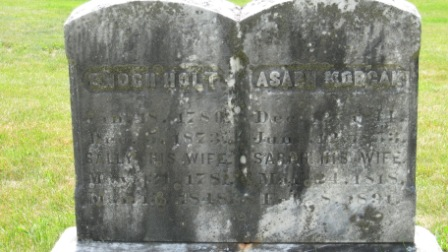 Headstone of Enoch Holt & Sally Morgan.