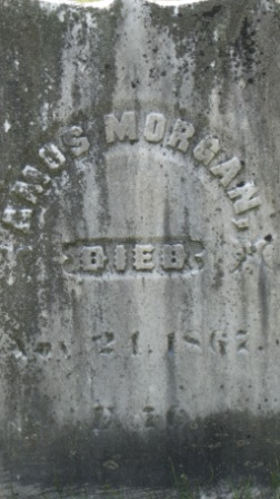 Headstone of Amos Morgan