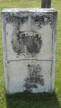 Headstone of Betsy (Duncklee) Morgan