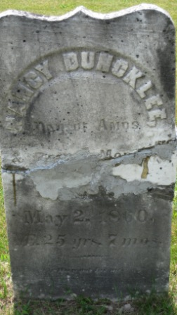 Headstone of Nancy Duncklee Morgan
