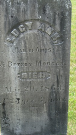 Headstone of Lucy Ann Morgan